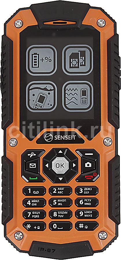 Мобильный телефон SENSEIT P10  оранжевый/черный