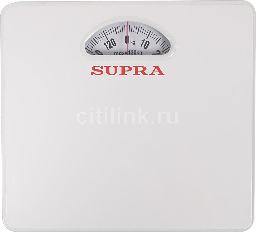 Весы SUPRA BSS-4061, до 130кг, цвет: белый [4472]