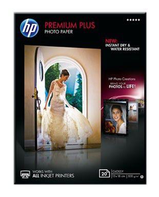 Бумага HP Premium Plus CR676A 13x18/300г/м2/20л./белый глянцевое для струйной печати