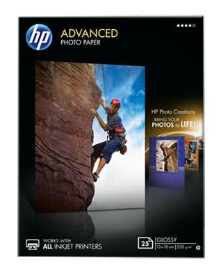 Бумага HP Q8696A Улучшенная глянцевая, 250 г/м, 13 x 18 см без полей (25 листов)