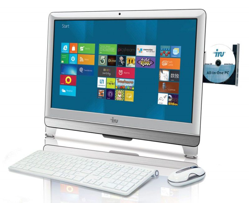 Моноблок IRU 307, Intel Core i3 3220, 4Гб, 1000Гб, Intel HD Graphics, DVD-RW, Windows 8, белый