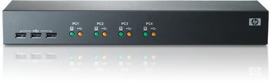 Переключатель HPE 1x4 USB/PS2 KVM (AF611A)