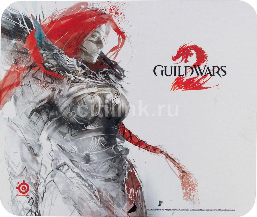 Коврик для мыши STEELSERIES SS QcK Guild Wars 2 Eir Edition рисунок/белый [67243]