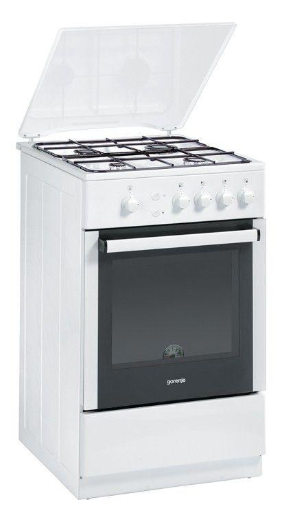Газовая плита GORENJE GN51102AW,  газовая духовка,  белый