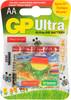 AA Батарейка GP Ultra Alkaline 15AUGL LR6,  4 шт. вид 1