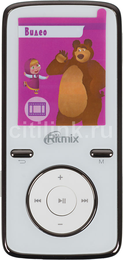 MP3 плеер RITMIX RF-4950M flash 4Гб белый [15115089]
