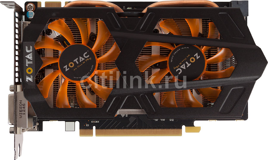 Видеокарта ZOTAC GeForce GTX 650Ti Boost, ZT-61201-10M,  2Гб, GDDR5, Ret