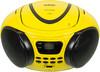 Аудиомагнитола BBK BX107U,  желтый и черный вид 3