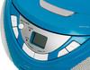 Аудиомагнитола BBK BX108U,  голубой и серебристый вид 8