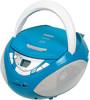 Аудиомагнитола BBK BX108U,  голубой и серебристый вид 1