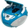 Аудиомагнитола BBK BX108U,  голубой и серебристый вид 2