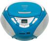 Аудиомагнитола BBK BX108U,  голубой и серебристый вид 3