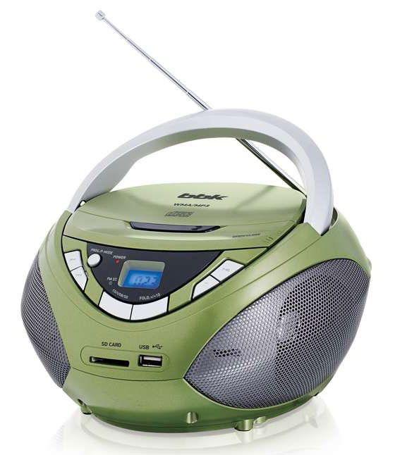 Аудиомагнитола BBK BX108U,  зеленый