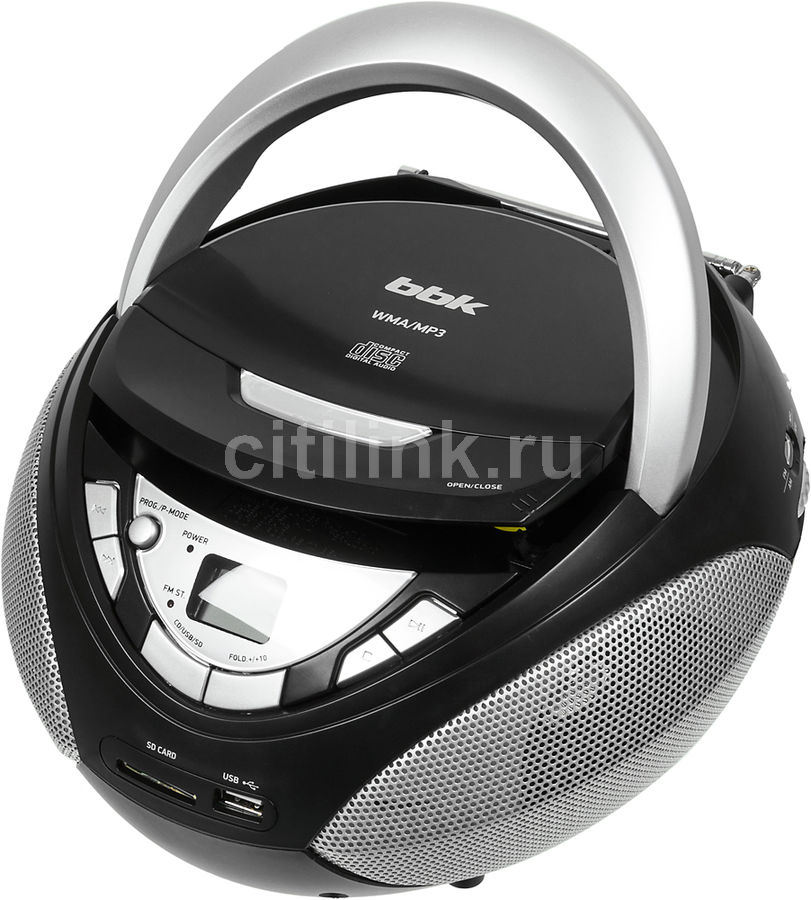 Аудиомагнитола BBK BX108U черный/серый 4Вт/CD/CDRW/MP3/FM(an)/USB/SD(Б/У)