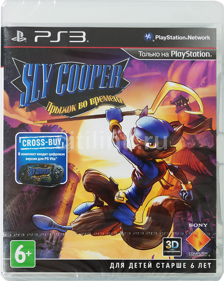 Игра SOFT CLUB Sly Cooper: Прыжок во времени (3D) для  PlayStation3 Rus