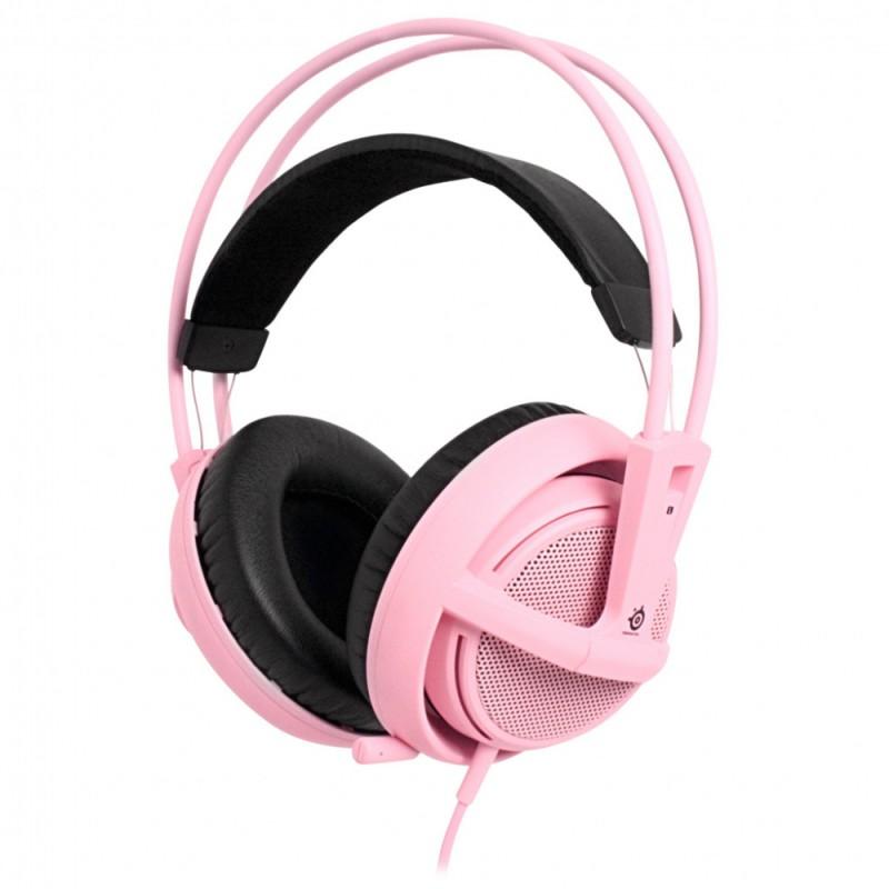 Наушники с микрофоном STEELSERIES Siberia v2 full-size (51126),  накладные, розовый