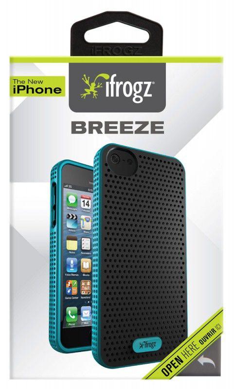 Чехол (клип-кейс) IFROGZ Breeze (IP5BZ-BKTL), для Apple iPhone 5, черный