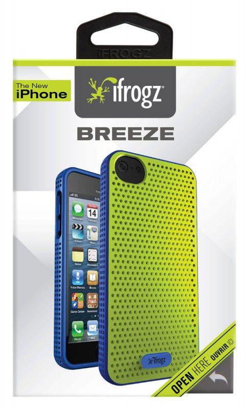 Чехол (клип-кейс) IFROGZ Breeze (IP5BZ-GRBL), для Apple iPhone 5, зеленый