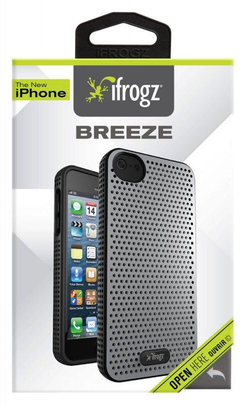 Чехол (клип-кейс) IFROGZ Breeze (IP5BZ-SLBK), для Apple iPhone 5, серебристый