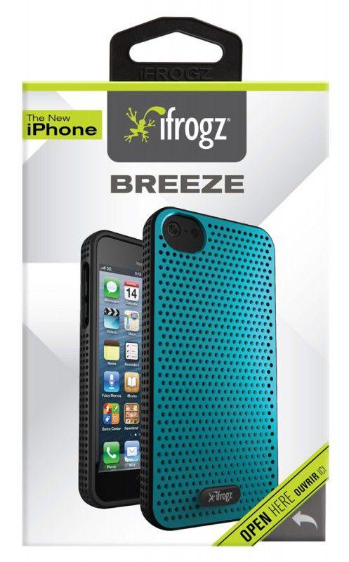 Чехол (клип-кейс) IFROGZ Breeze (IP5BZ-TLBK), для Apple iPhone 5, голубой