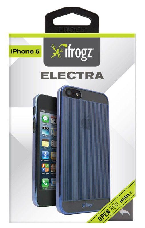 Чехол (клип-кейс) IFROGZ Electra (IP5ELC-BLU), для Apple iPhone 5, синий