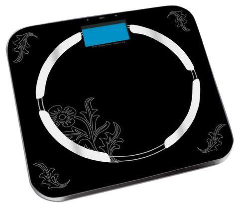 Весы REDMOND RS-713, до 150кг, цвет: черный/рисунок