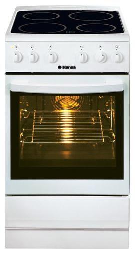 Электрическая плита HANSA FCCW53014040,  стеклокерамика,  белый