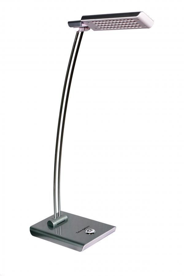 Светильник настольный ТЕХНОФОН TFS 853 на подставке,  3.5Вт,  серебристый