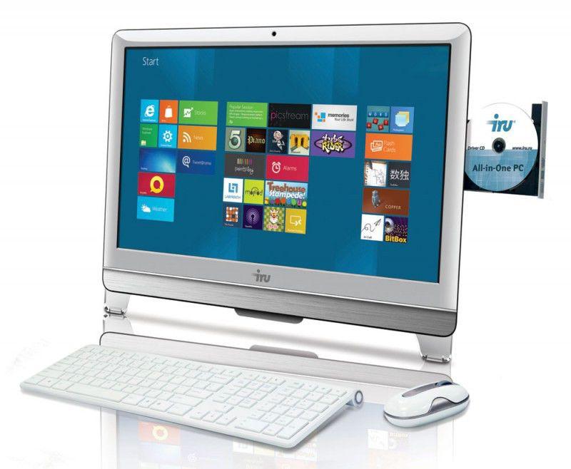 Моноблок IRU 317, AMD 5700, 4Гб, 500Гб, DVD-RW, Windows 7 Professional, белый