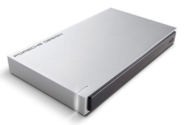 Внешний жесткий диск LACIE Porsche Design P9233, 2Тб, серебристый [9000296]
