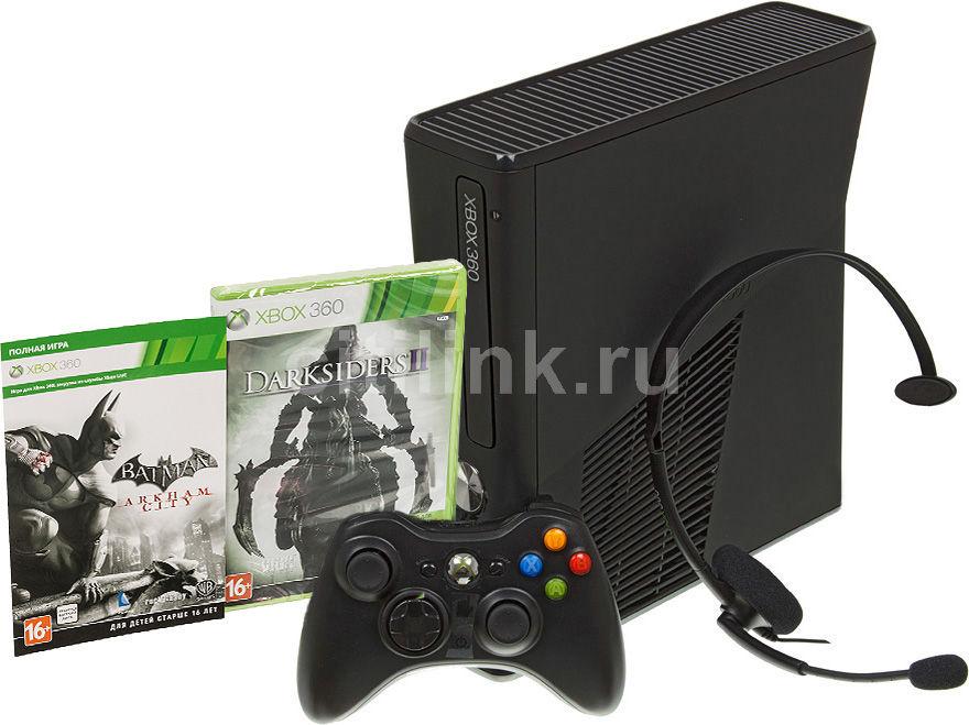 Игровая консоль MICROSOFT Xbox 360 R9G-00207, черный