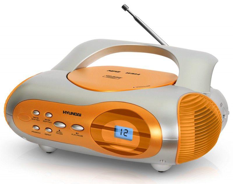 Аудиомагнитола HYUNDAI H-1413,  оранжевый