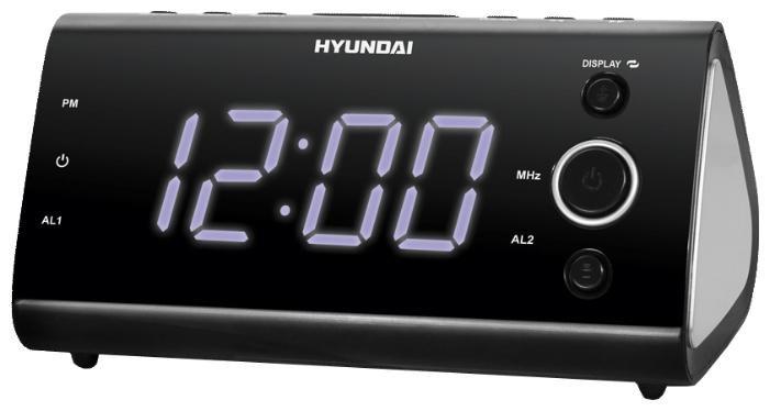 Радиобудильник HYUNDAI H-1551, фиолетовая подсветка,  черный