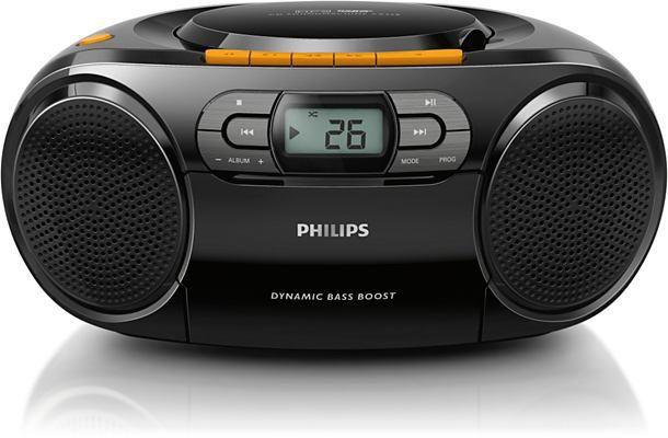 Аудиомагнитола PHILIPS AZ-328/12,  черный