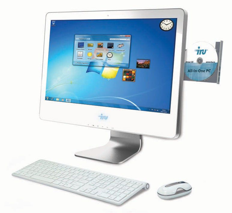 Моноблок IRU AIO 308, Intel Core i5 3570, 8Гб, 1000Гб, nVIDIA GeForce GT630M - 1024 Мб, DVD-RW, Free DOS, белый [769025]