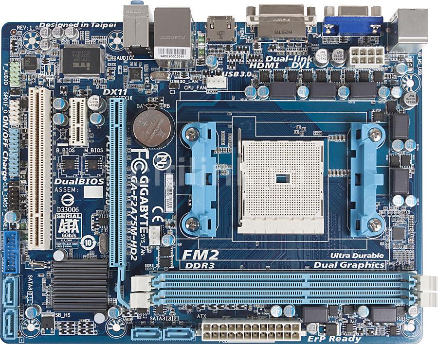 Материнская плата GIGABYTE GA-F2A75M-HD2 Socket FM2, mATX, bulk