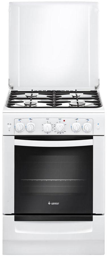 Газовая плита GEFEST 6101-02,  газовая духовка,  белый [пгэ 6101-02]