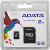 Карта памяти microSD A-DATA My Flash 2 ГБ, AUSD2GZ-RA1,  1 шт., переходник SD вид 1