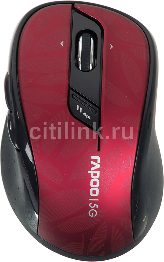 Мышь RAPOO 7100P оптическая беспроводная USB, красный [10830]