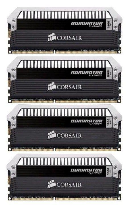 Модуль памяти CORSAIR DOMINATOR PLATINUM CMD32GX3M4A1866C10 DDR3 -  4x 8Гб 1866, DIMM,  Ret