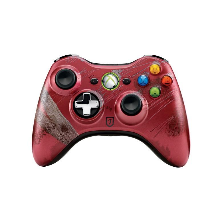 Беспроводной контроллер MICROSOFT Xbox 360, красный [43g-00046]