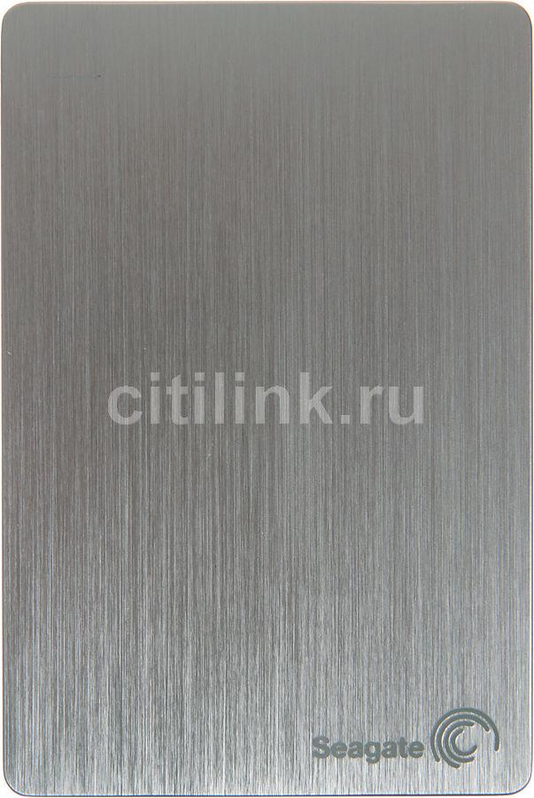 Внешний жесткий диск SEAGATE Slim STCD500204, 500Гб, серебристый