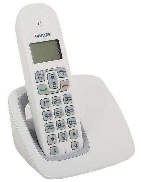 Радиотелефон PHILIPS CD1901W/51,  белый