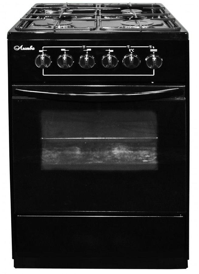 Газовая плита ЛЫСЬВА ЭГ 401-2у,  электрическая духовка,  черный