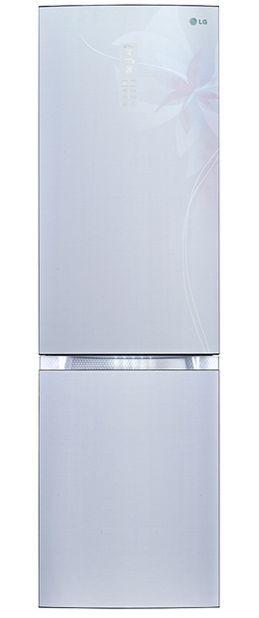 Холодильник LG GA-B489TGDF,  двухкамерный,  светло-серый
