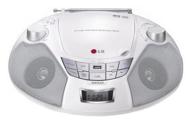 Аудиомагнитола LG SB16W,  белый