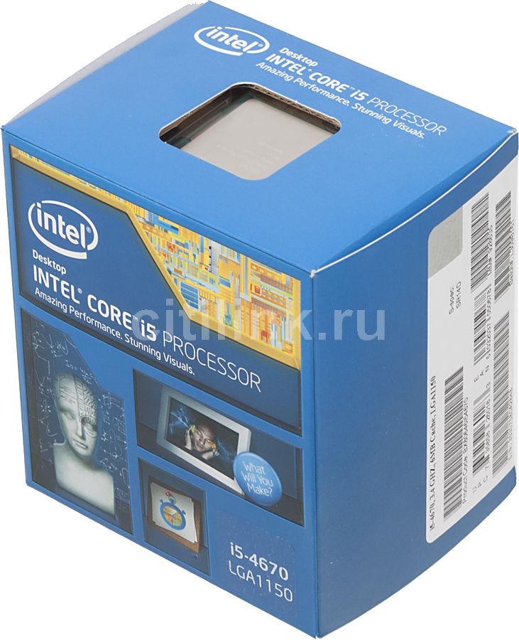 Процессор INTEL Core i5 4670, LGA 1150 BOX [bx80646i54670  s r14d]