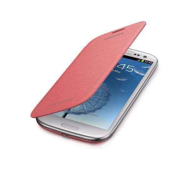 Чехол (флип-кейс) SAMSUNG EFC-1G6FPE, для Samsung Galaxy S III, розовый [efc-1g6fpecser]