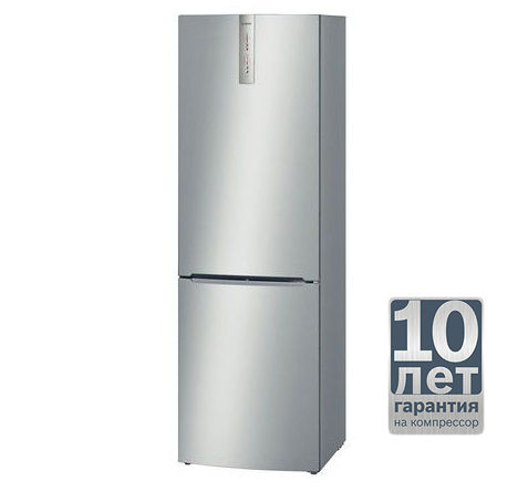 Холодильник BOSCH KGN36VL10R,  двухкамерный,  серебристый