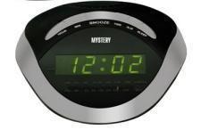Радиобудильник MYSTERY MCR-46, зеленая подсветка,  серебристый